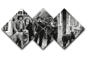The Who with dogs 4 Square Multi Panel Canvas  - Canvas Art Rocks - 1