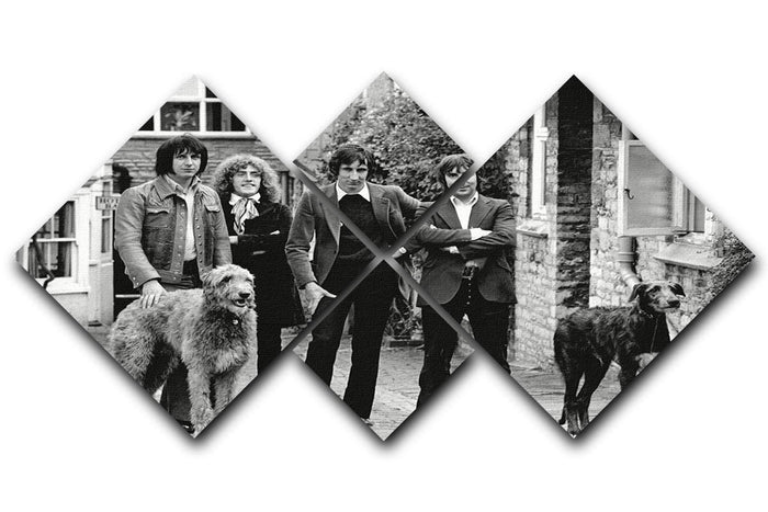 The Who with dogs 4 Square Multi Panel Canvas