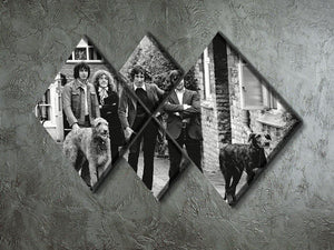 The Who with dogs 4 Square Multi Panel Canvas - Canvas Art Rocks - 2