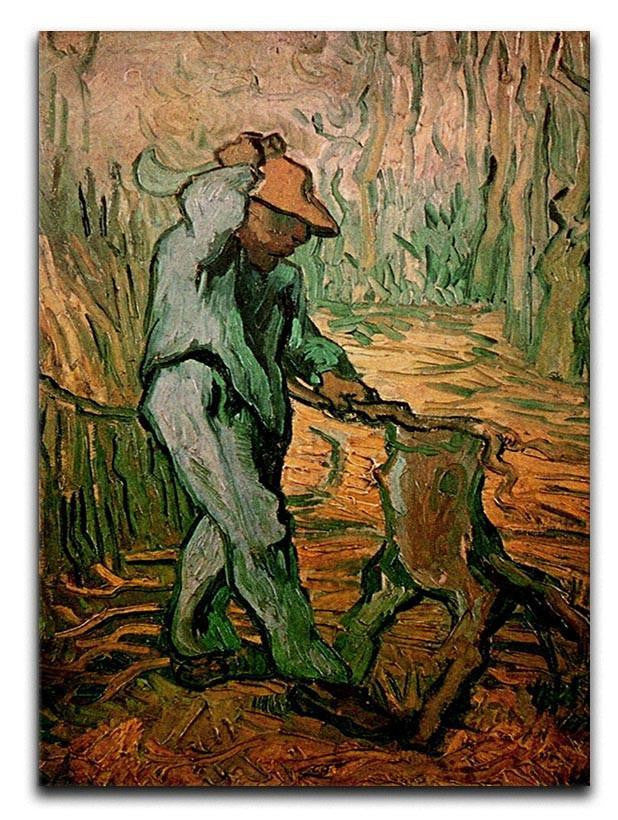 The Woodcutter after Millet by Van Gogh Canvas Print or Poster
