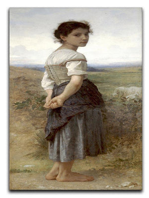 The Young Shepherdess By Bouguereau Canvas Print or Poster  - Canvas Art Rocks - 1