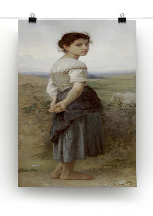 The Young Shepherdess By Bouguereau Canvas Print or Poster - Canvas Art Rocks - 2