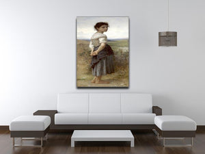 The Young Shepherdess By Bouguereau Canvas Print or Poster - Canvas Art Rocks - 4