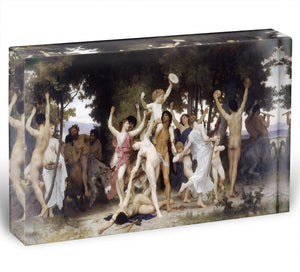 The Youth of Bacchus By Bouguereau Acrylic Block - Canvas Art Rocks - 1