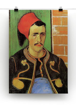 The Zouave Half Length by Van Gogh Canvas Print & Poster - Canvas Art Rocks - 2