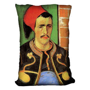 The Zouave Half Length by Van Gogh Throw Pillow