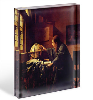 The astronomer by Vermeer Acrylic Block - Canvas Art Rocks - 1