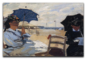 The beach a Trouville by Monet Canvas Print & Poster  - Canvas Art Rocks - 1