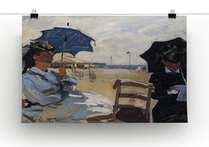The beach a Trouville by Monet Canvas Print & Poster - Canvas Art Rocks - 2