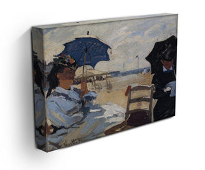 The beach a Trouville by Monet Canvas Print & Poster - Canvas Art Rocks - 3