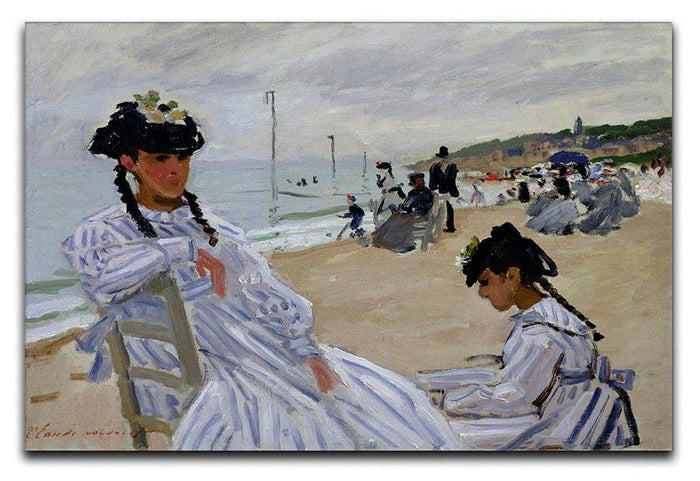 The beach at Trouville by Monet Canvas Print or Poster