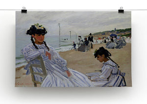 The beach at Trouville by Monet Canvas Print & Poster - Canvas Art Rocks - 2