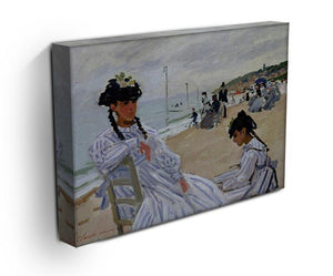 The beach at Trouville by Monet Canvas Print & Poster - Canvas Art Rocks - 3