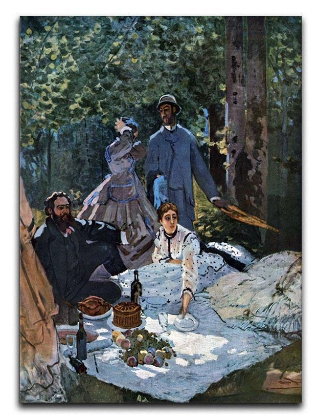 The breakfast outdoors central section by Monet Canvas Print or Poster