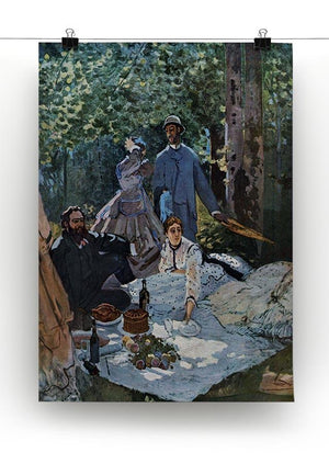 The breakfast outdoors central section by Monet Canvas Print & Poster - Canvas Art Rocks - 2