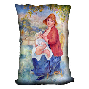 The child at the chest maternity by Renoir Throw Pillow