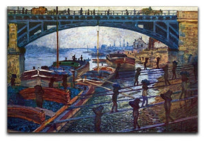 The coal carrier by Monet Canvas Print & Poster  - Canvas Art Rocks - 1