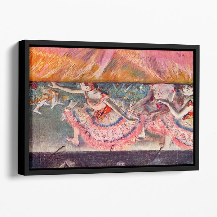 The curtain falls by Degas Floating Framed Canvas