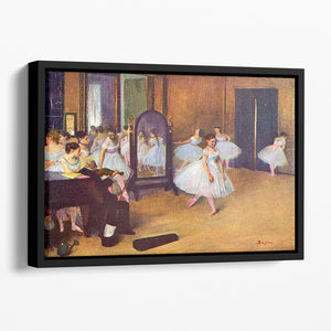 The dance hall by Degas Floating Framed Canvas