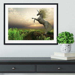 The fabled Unicorn Stag Framed Print - Canvas Art Rocks - 1