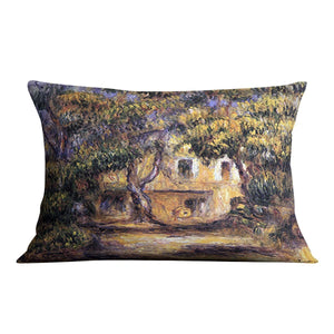The farm at Les Collettes by Renoir Throw Pillow