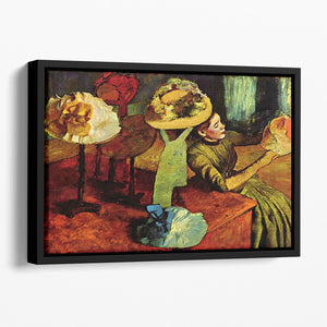 The fashion shop by Degas Floating Framed Canvas
