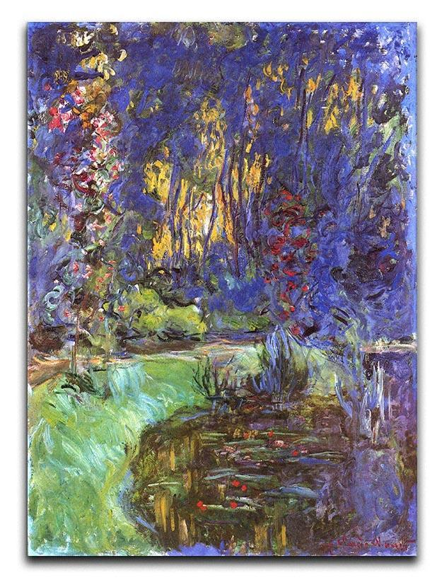 The garden in Giverny by Monet Canvas Print or Poster