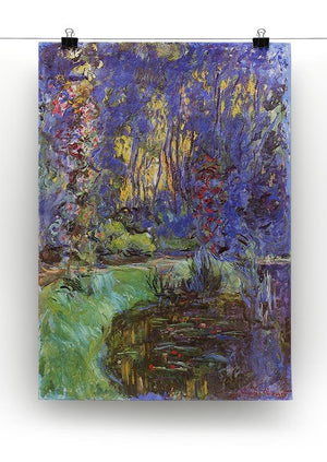 The garden in Giverny by Monet Canvas Print & Poster - Canvas Art Rocks - 2