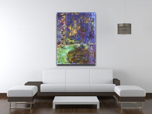 The garden in Giverny by Monet Canvas Print & Poster - Canvas Art Rocks - 4