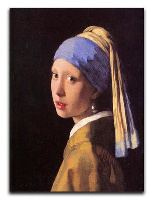 The girl with the pearl earring by Vermeer Canvas Print or Poster - Canvas Art Rocks - 1
