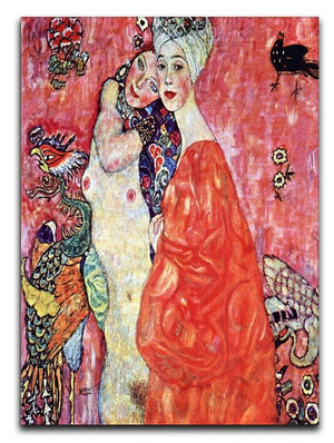 The girlfriends by Klimt Canvas Print or Poster  - Canvas Art Rocks - 1