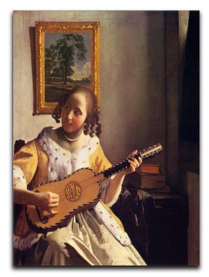 The guitar player by Vermeer Canvas Print or Poster - Canvas Art Rocks - 1