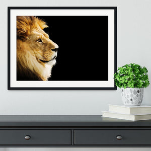 The king of all animals portrait Framed Print - Canvas Art Rocks - 1