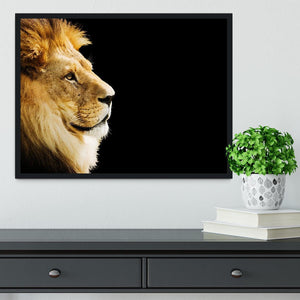 The king of all animals portrait Framed Print - Canvas Art Rocks - 2