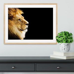 The king of all animals portrait Framed Print - Canvas Art Rocks - 3