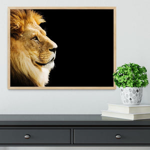 The king of all animals portrait Framed Print - Canvas Art Rocks - 4