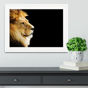 The king of all animals portrait Framed Print - Canvas Art Rocks - 5