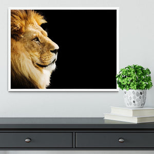 The king of all animals portrait Framed Print - Canvas Art Rocks -6