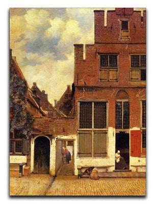 The little street by Vermeer Canvas Print or Poster - Canvas Art Rocks - 1