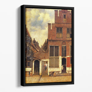 The little street by Vermeer Floating Framed Canvas