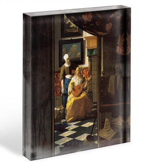The love letter by Vermeer Acrylic Block - Canvas Art Rocks - 1