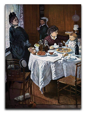 The lunch 1 by Monet Canvas Print & Poster  - Canvas Art Rocks - 1