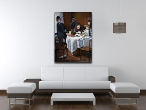 The lunch 1 by Monet Canvas Print & Poster - Canvas Art Rocks - 4