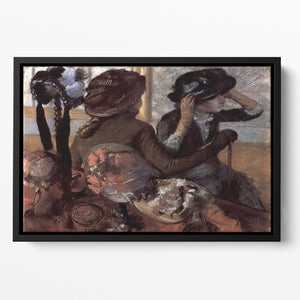The milliner 1 by Degas Floating Framed Canvas