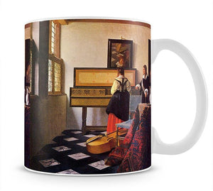 The music lesson by Vermeer Mug - Canvas Art Rocks - 1