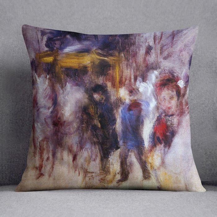 The place Clichy Detail by Renoir Throw Pillow