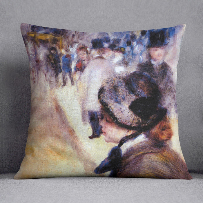 The place Clichy by Renoir Throw Pillow