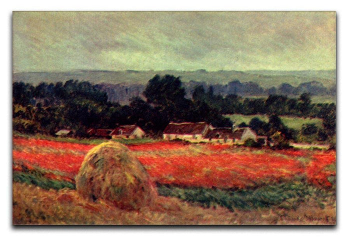 The poppy Blumenfeld The barn by Monet Canvas Print or Poster