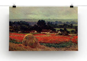 The poppy Blumenfeld The barn by Monet Canvas Print & Poster - Canvas Art Rocks - 2