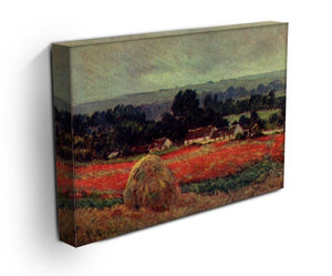 The poppy Blumenfeld The barn by Monet Canvas Print & Poster - Canvas Art Rocks - 3